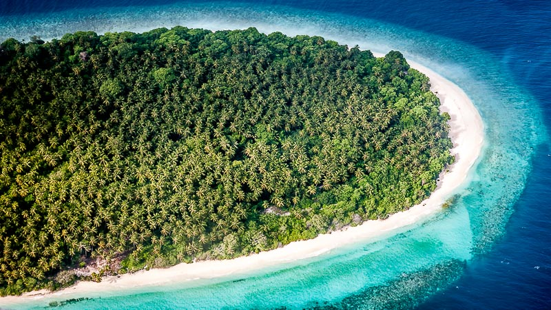 Maldivian island from the air