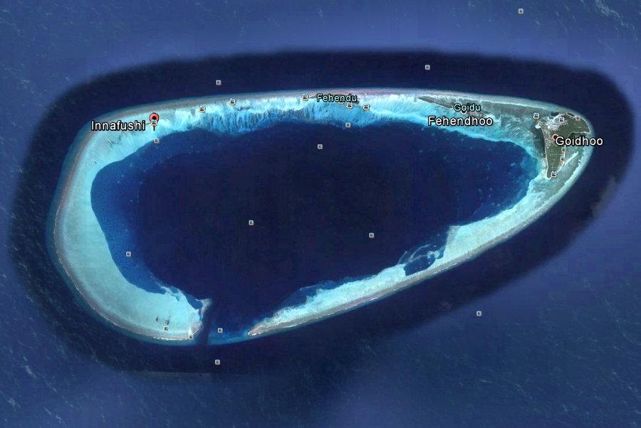Goidhoo atoll, showing Innafushi