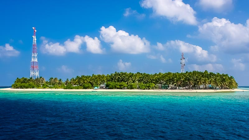 A local Maldivian island