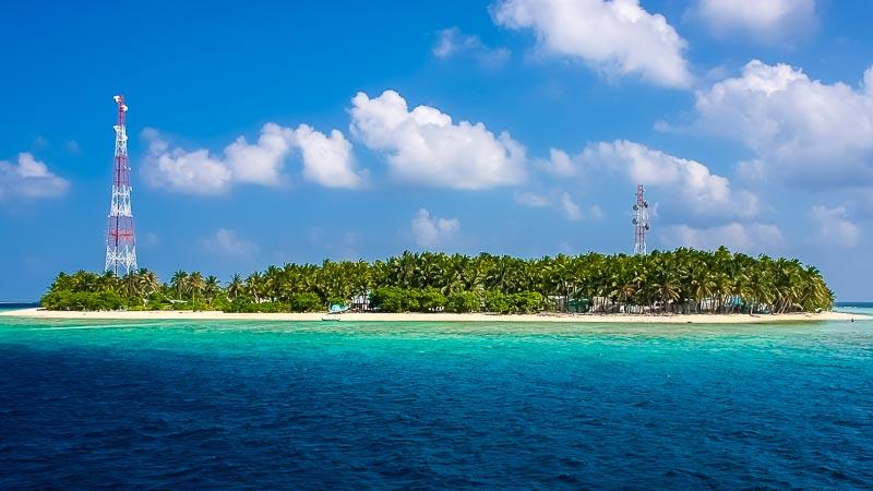 A local Maldivian island