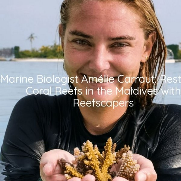 Marine Biologist Amélie Carraut: Restoring Coral Reefs in the Maldives with Reefscapers
