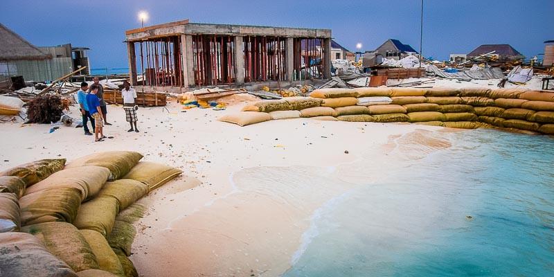 Seamarc - Coastal Management and Beach Erosion, Rhandeli Maldives (Jan-13)